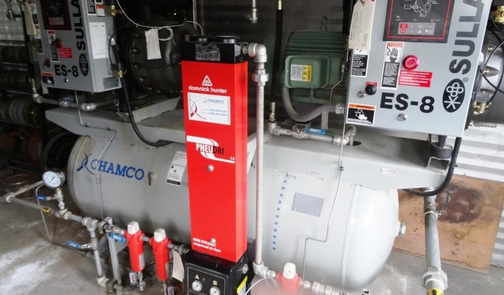 Instrument Air Skid (2 Sullair ES-8 Compressors, Tank, Dryer)